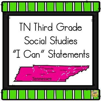 I Can Statements TN Third Grade - Social Studies