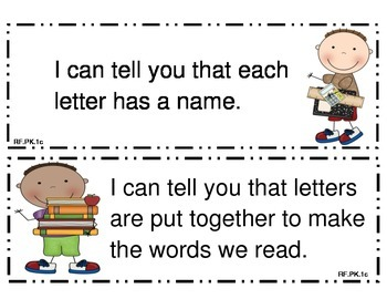 Preschool I Can Statements Tennessee