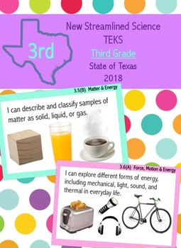 Third Grade New Science Streamlined TEKS-  I Can Statements