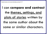 I Can Statements - Third Grade Reading Standards