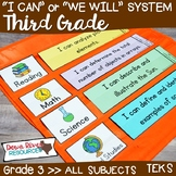 I Can Statements Third Grade TEKS System BUNDLE {All Third