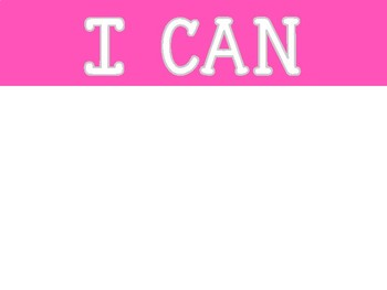 I Can Statements (Vertical)