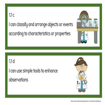I Can Statements - Virginia 1st Grade Science SOLs