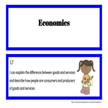 I Can Statements - Virginia 1st Grade Social Studies SOLs