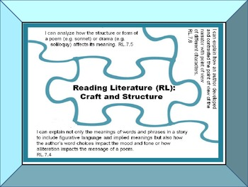 """I Can"" Statements and Engaging Activities for Common Core Reading Standards 7"