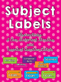 I Can Statements and Essential Question Labels