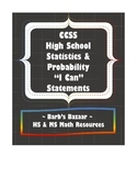 """I Can"" Statements checklist for high school Statistics &"