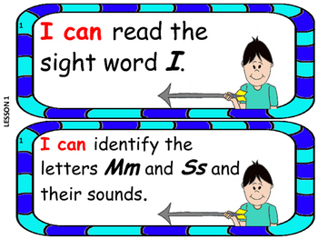I Can Statements following the Kindergarten Storytown Progression