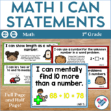 I Can Statements 1st Grade Math