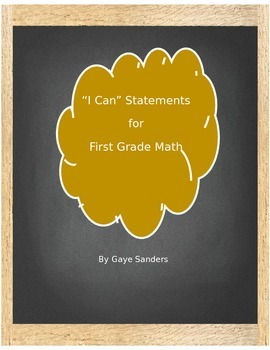 I Can Statements for 1st Grade Math