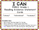 I Can Statements for 1st grade