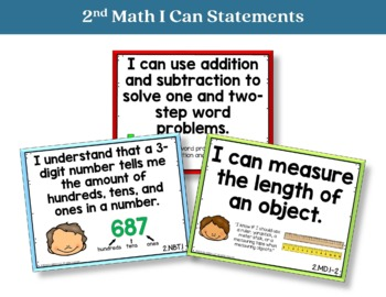 I Can Statements 2nd Grade Math