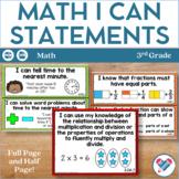 I Can Statements 3rd Grade Math