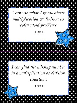 I Can Statements for 3rd Grade ELA and Math Common Core