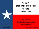 """I Can"" Statements for 3rd Grade English Language Arts and Reading TEKS"