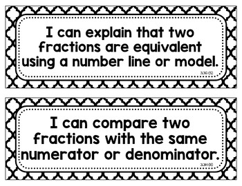 I Can Statements for 3rd Grade Math TEKS (Texas)