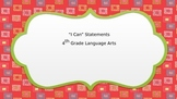 I Can Statements for 4th Grade Language Arts - Bright Colors