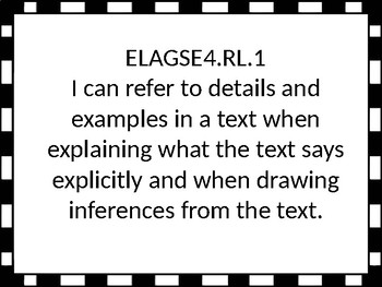 I Can Statements for 4th grade ELA and Math for Georgia Standards of Excellence