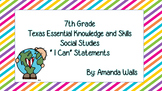 I Can Statements for 7th Grade Social Studies
