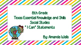 I Can Statements for 8th Grade Social Studies