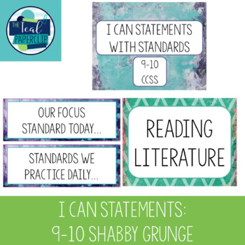 I Can Statements for 9-10: Shabby Grunge