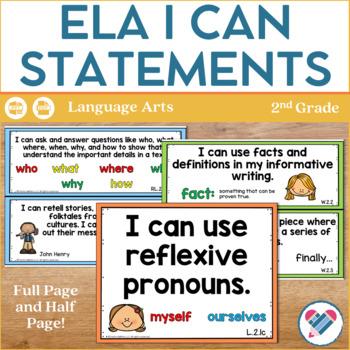 I Can Statements 2nd Grade ELA