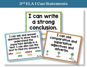 I Can Statements 3rd Grade ELA
