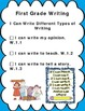 """I Can"" Statements for First Grade Common Core-Complete Set"