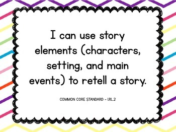 I Can Statements:  First Grade Common Core ELA