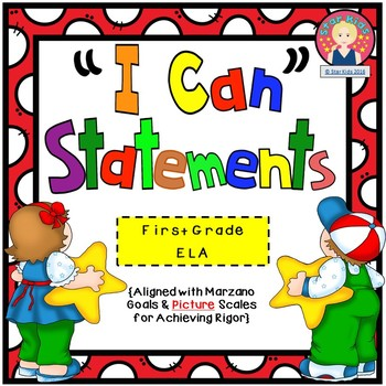 I Can Statements for First Grade {ELA}