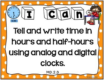 I Can Statements for First Grade {ELA and Math BUNDLE}