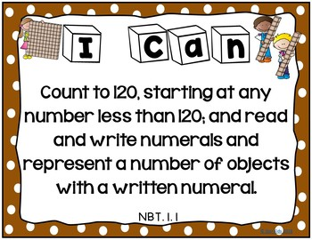 I Can Statements for First Grade {Math}