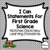 I Can Statements for First Grade Science