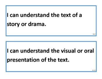 Literacy - I Can Statements for Fourth Grade ELA