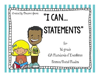 I Can Statements for GA Standards of Excellence Science and Social Studies