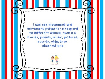 I Can Statements for Grade 1 Arts Education