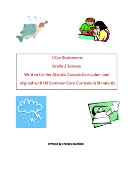 I Can Statements for Grade 2 Science
