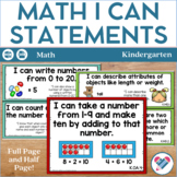 I Can Statements Kindergarten Math