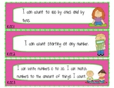 """I Can"" Statements for Kindergarten Common Core Math"