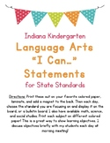I Can Statements for Kindergarten Language Arts Indiana St