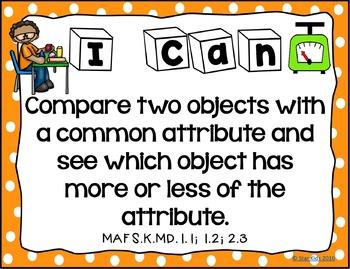 I Can Statements for Kindergarten {Math}