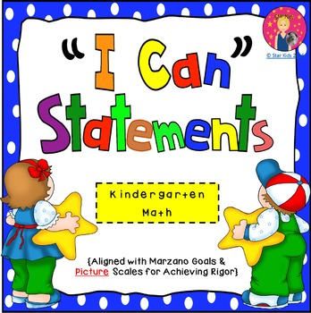 I Can Statements for Kindergarten {Math}