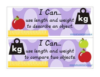 """I Can"" Statements for Kindergarten Math"