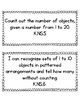I Can Statements for Kindergarten Math Indiana State Standards
