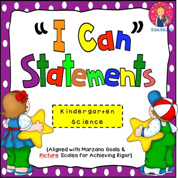 I Can Statements for Kindergarten {Science}