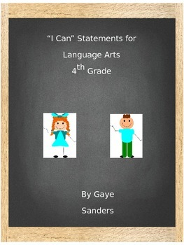 I Can Statements for Language Arts - 4th Grade