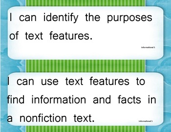 I Can Statements for Literacy Common Core