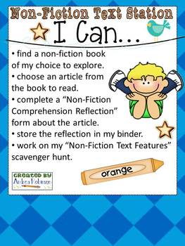 I Can Statements for Literacy Stations