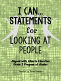 I Can Statements for Looking at People Unit