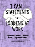 I Can Statements for Looking at Work Unit
